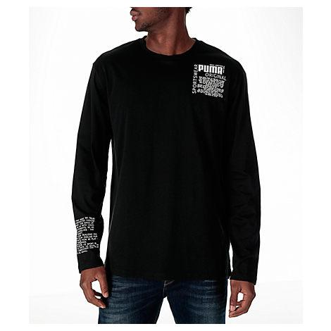 Puma Men's Disrupt Long-sleeve T-shirt, Black