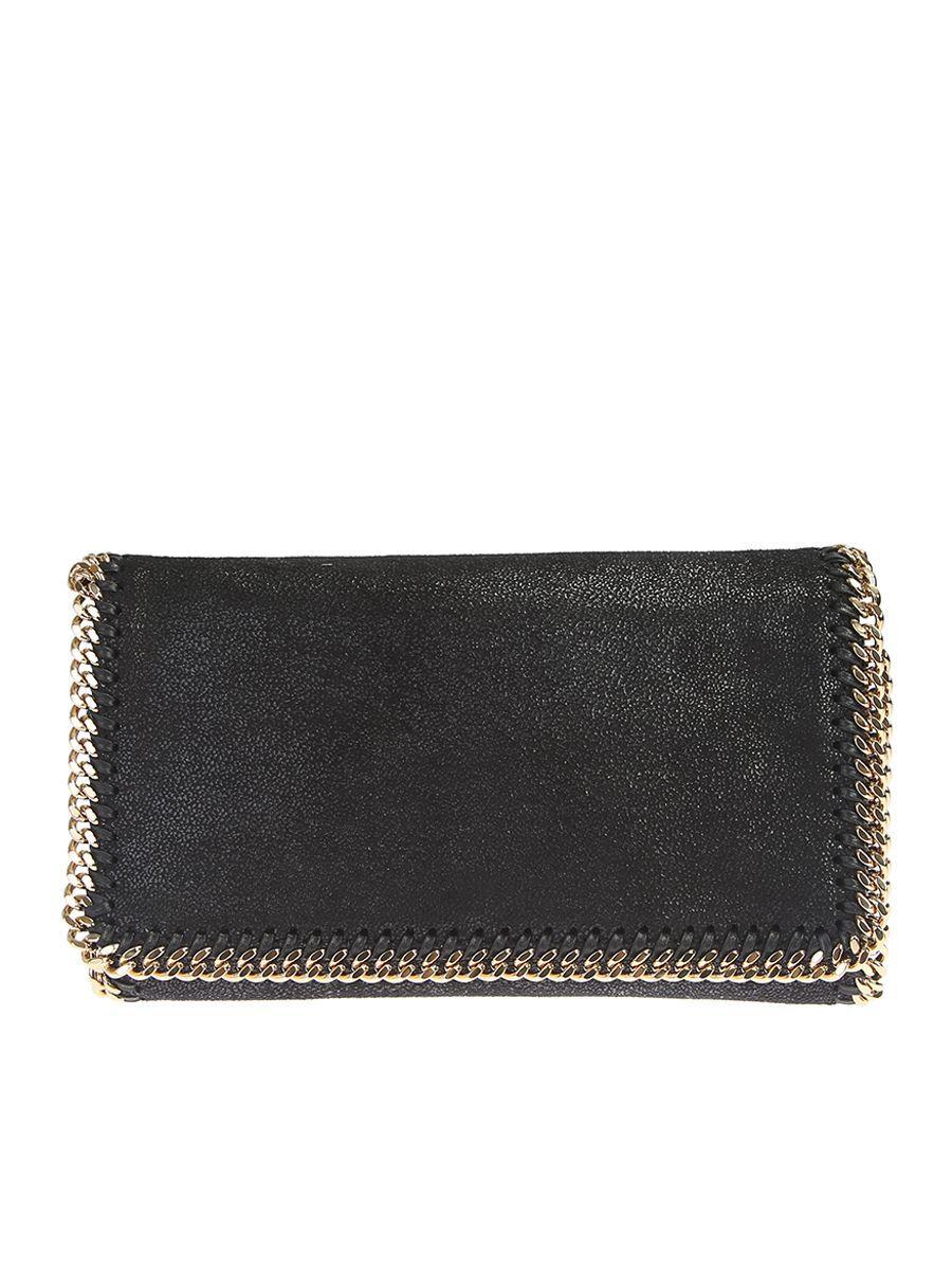 Stella Mccartney Faux Leather Falabella Cross Body Bag In Black
