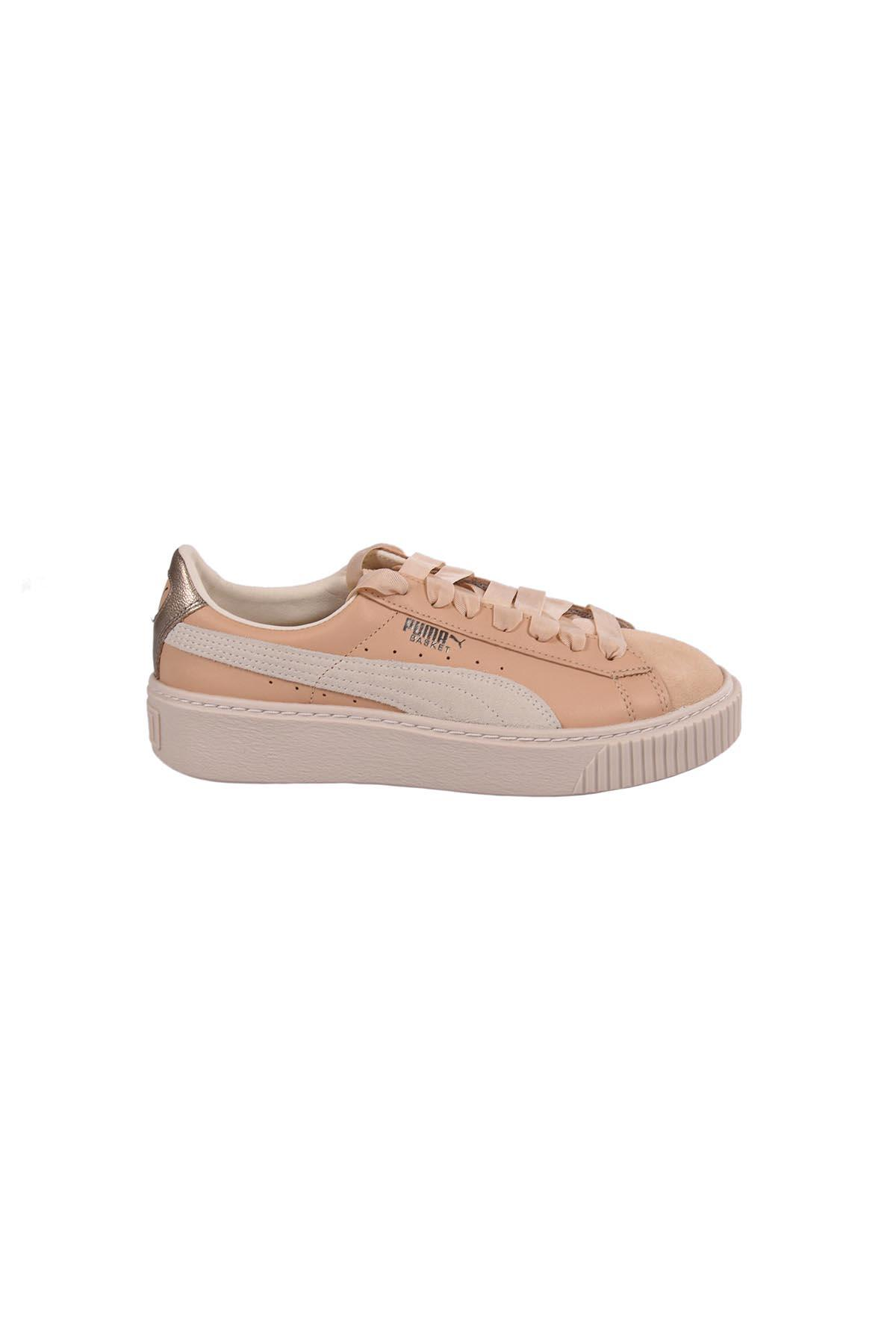 Puma Platform Prem Wns Sneakers In Natural Vacchetta-birch