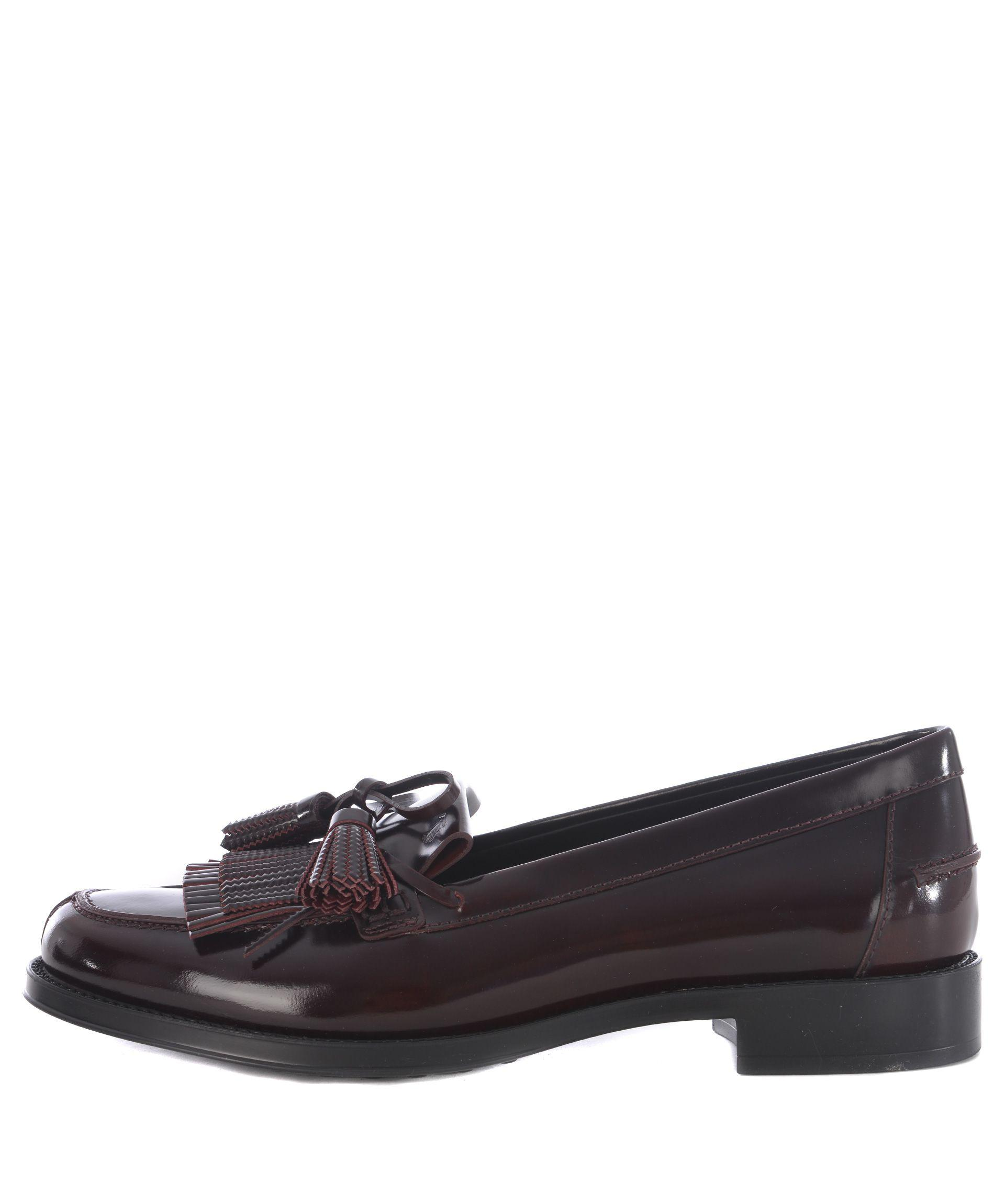 Tod's Fringed Tassel Loafer In Vinaccio