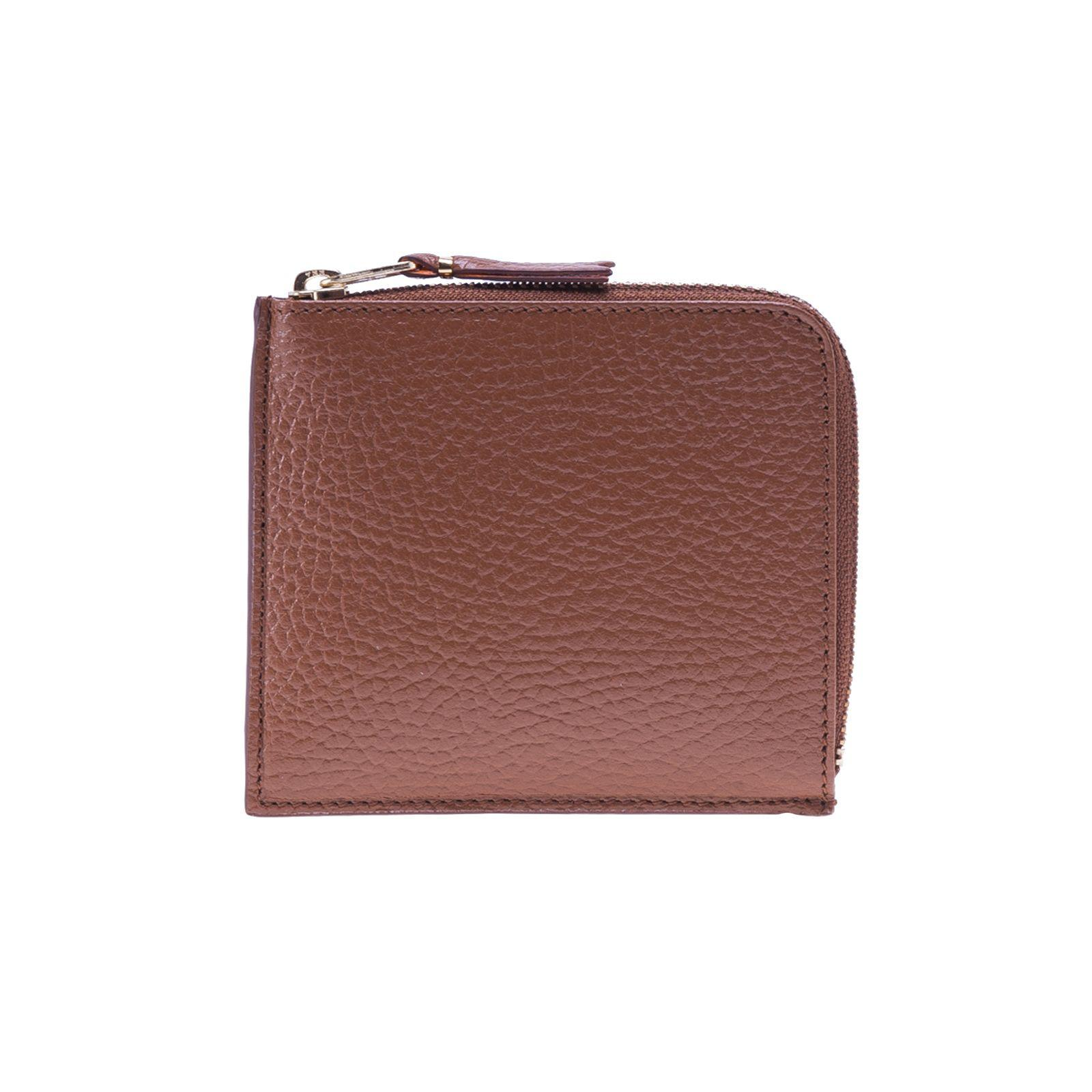 Comme Des GarÇons Wallet Grained Leather Wallet In Orangebrown