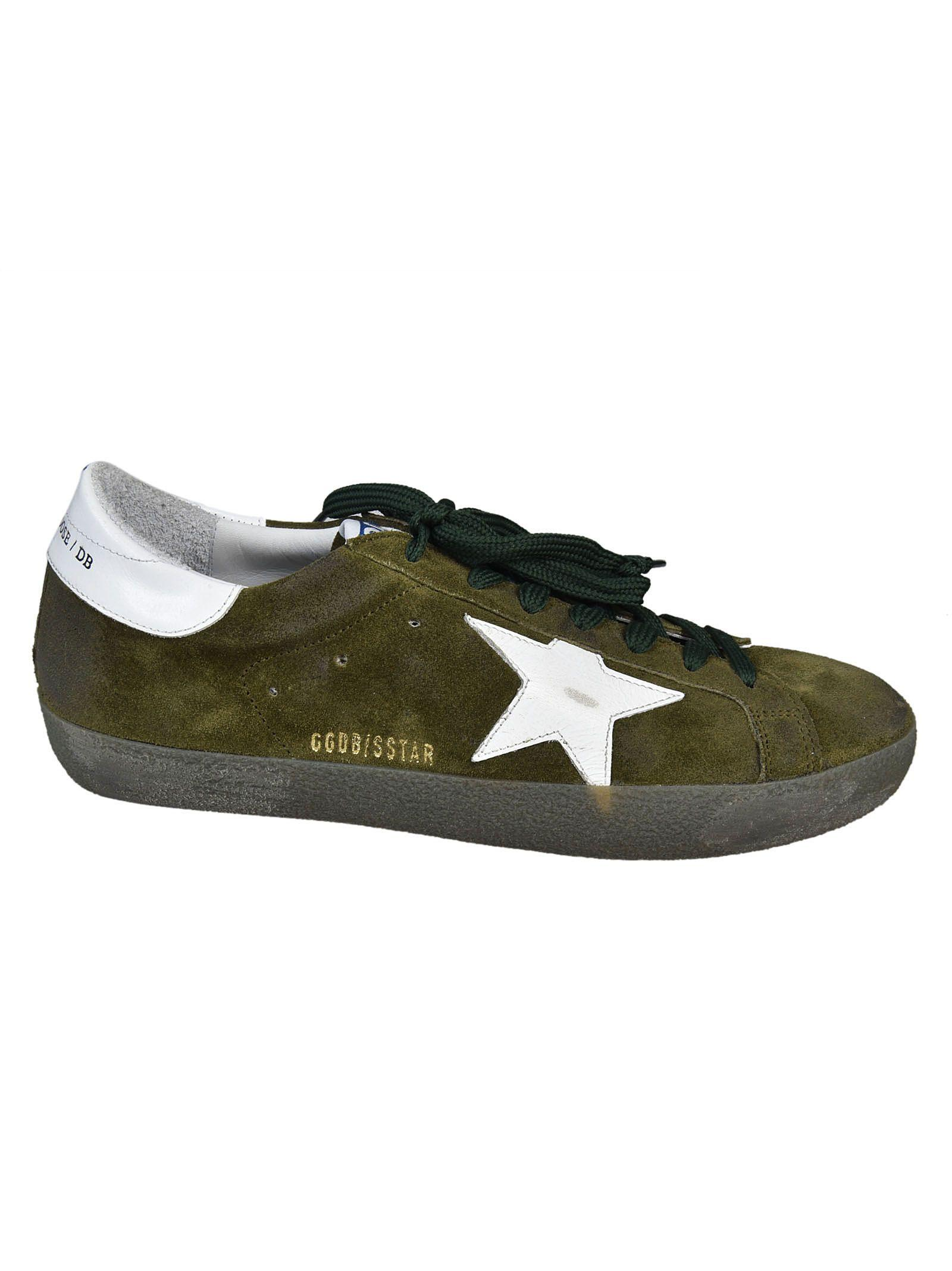 Golden Goose Superstar Sneakers In Olive-white