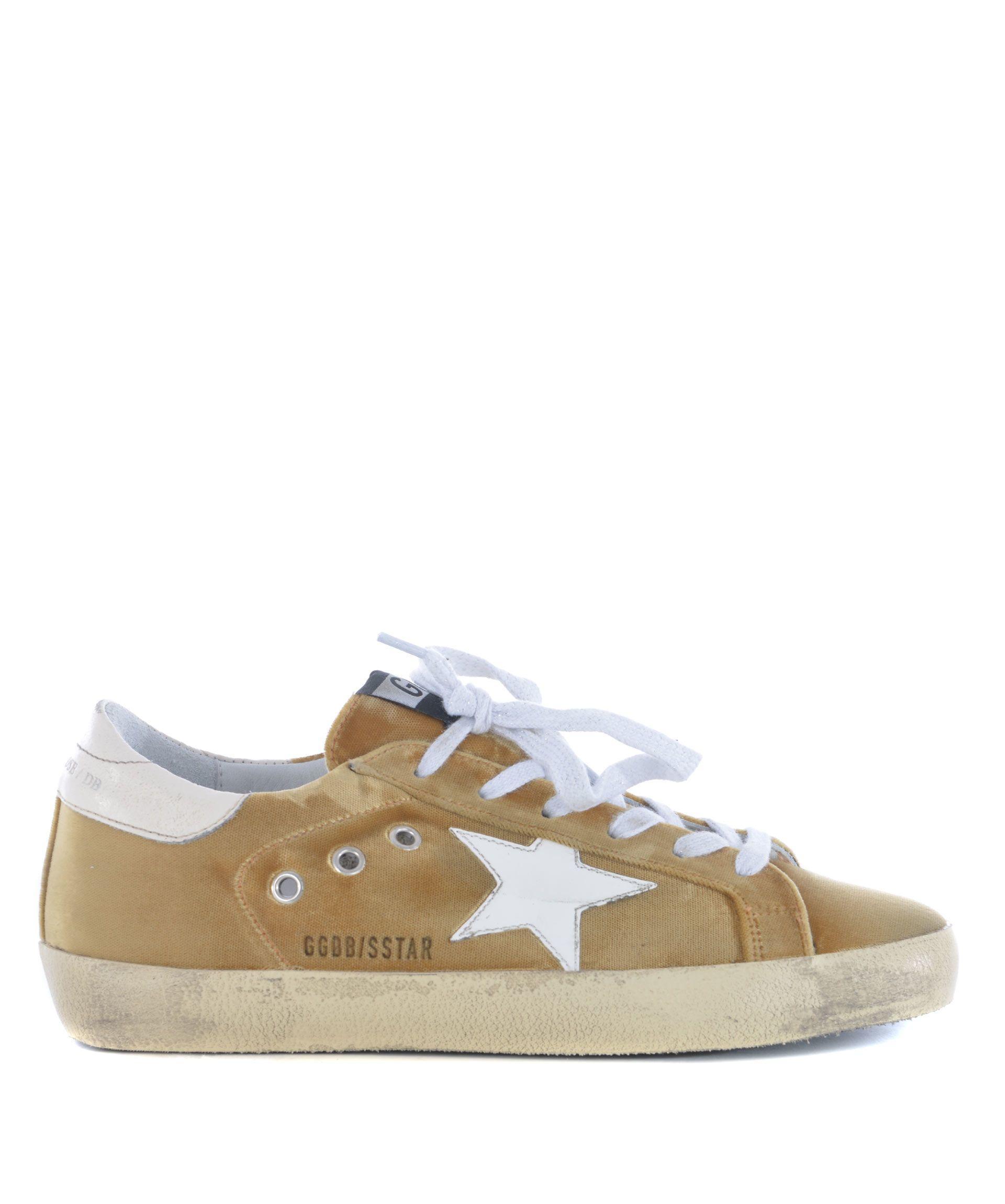 Golden Goose Superstar Sneakers In Beige-oro