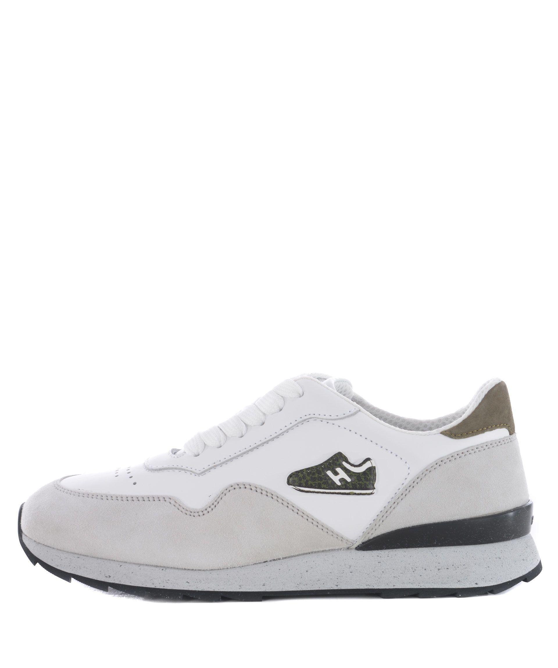 Hogan Mini Running Sneakers In Bianco/ghiaccio