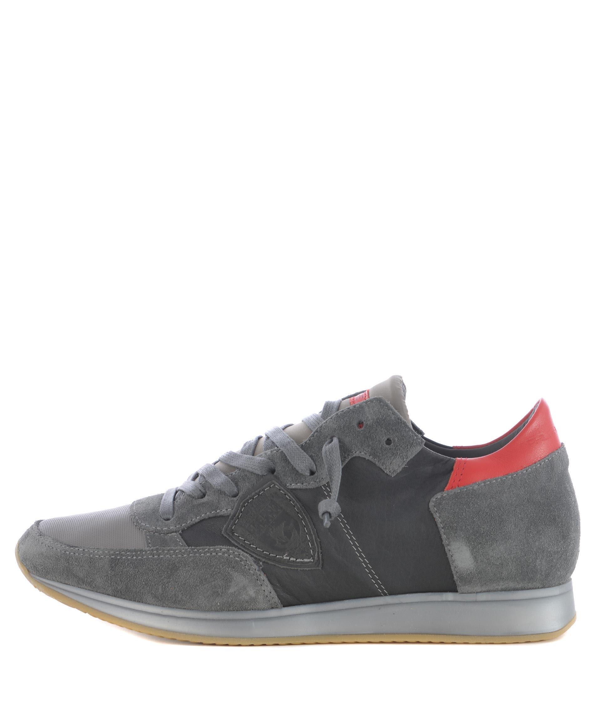 Philippe Model Tropez Sneakers In Grigio Scuro