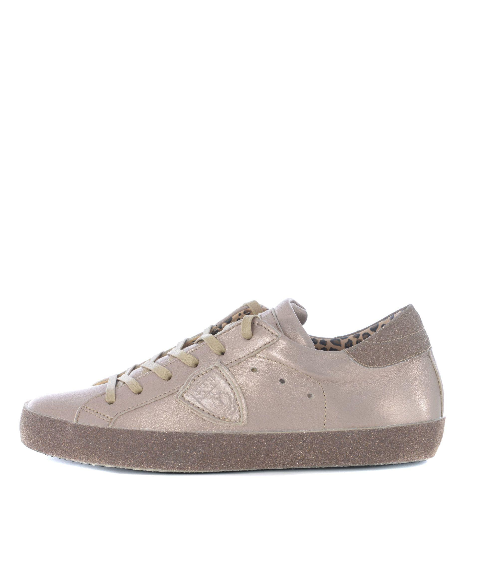 Philippe Model Glitter Effect Sneakers In Champagne