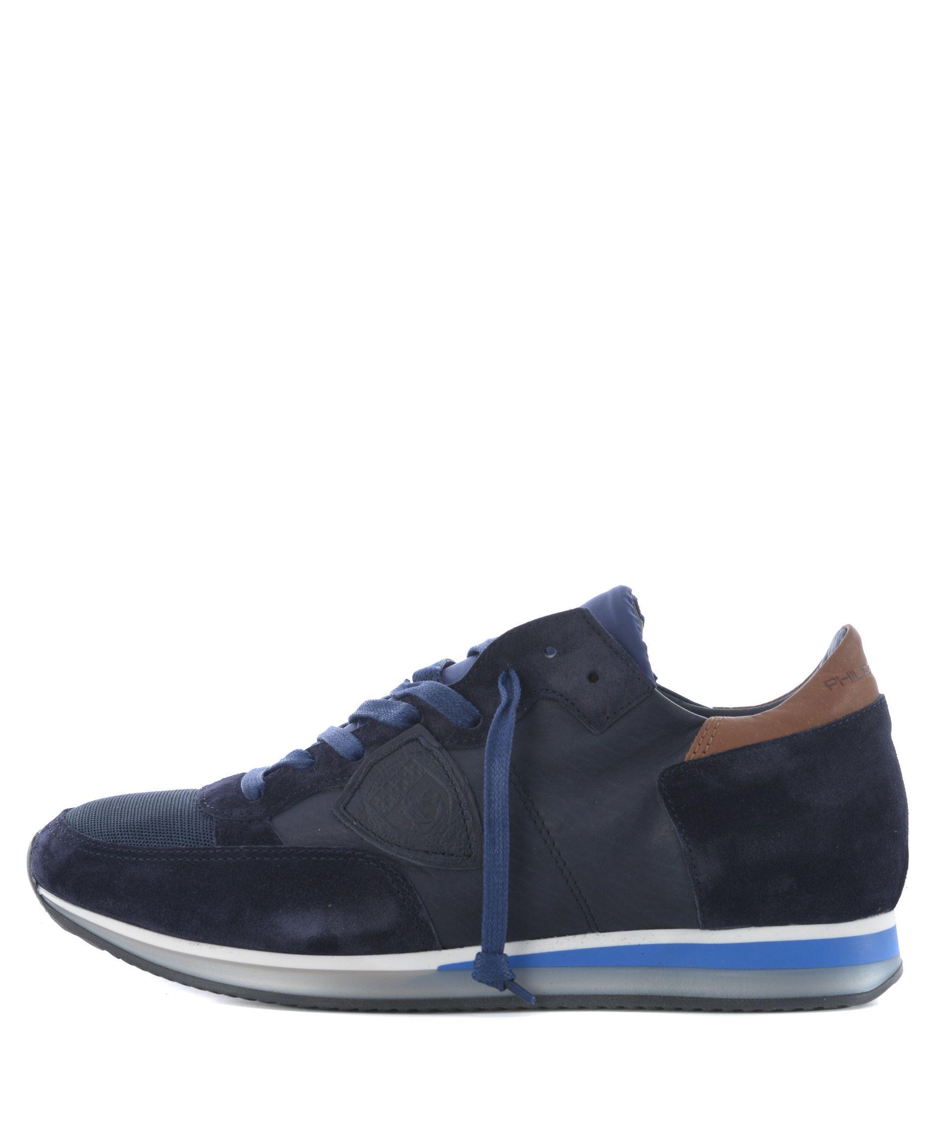 Philippe Model Tropez Sneakers In Blu Scuro