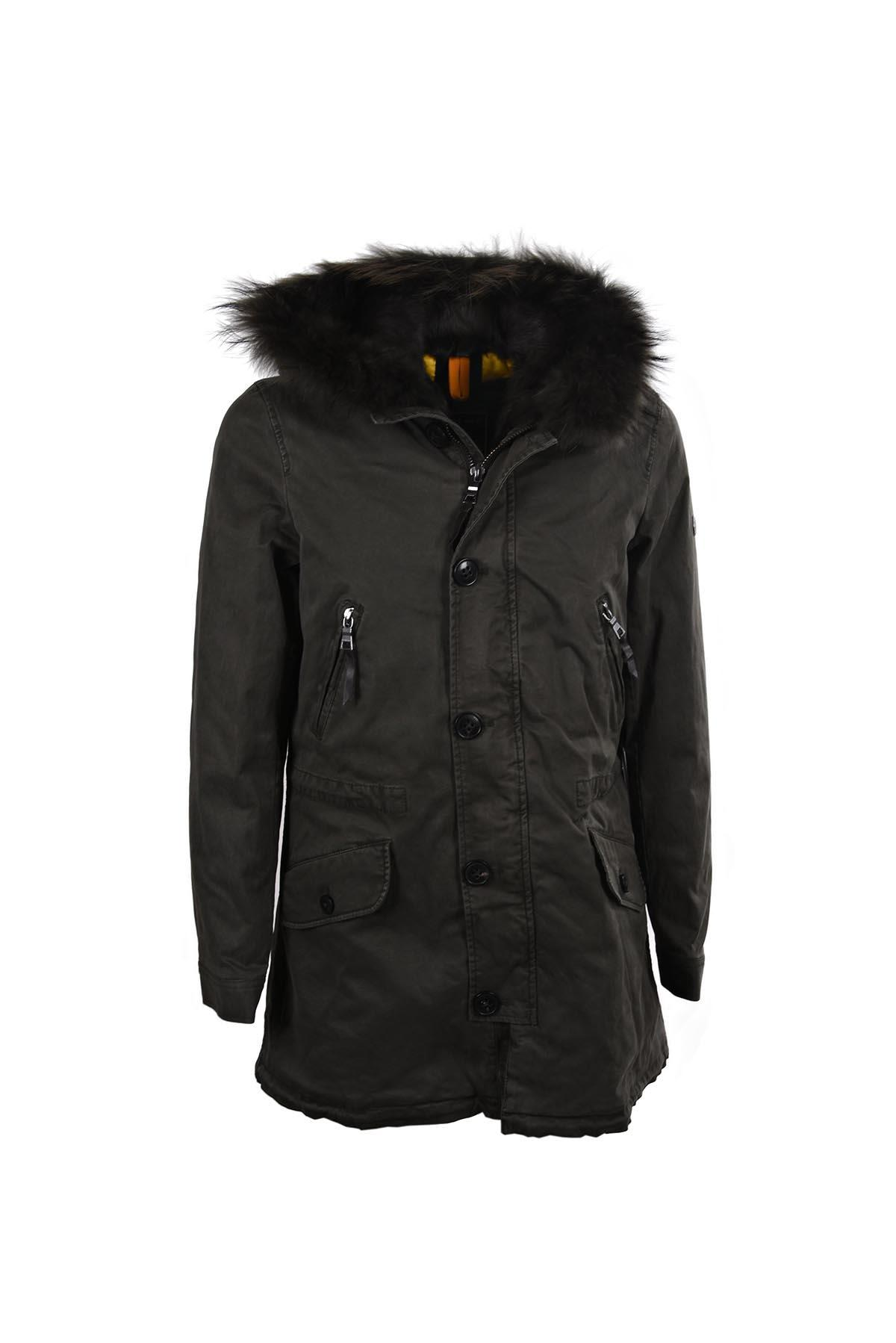 Blonde No.8 Parka In Night Green Dtm