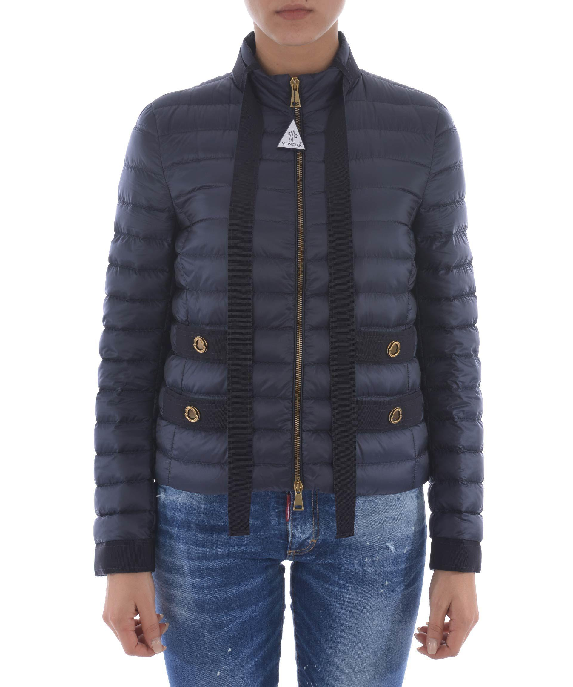 Moncler Pavottine Down Jacket In Blu Scuro