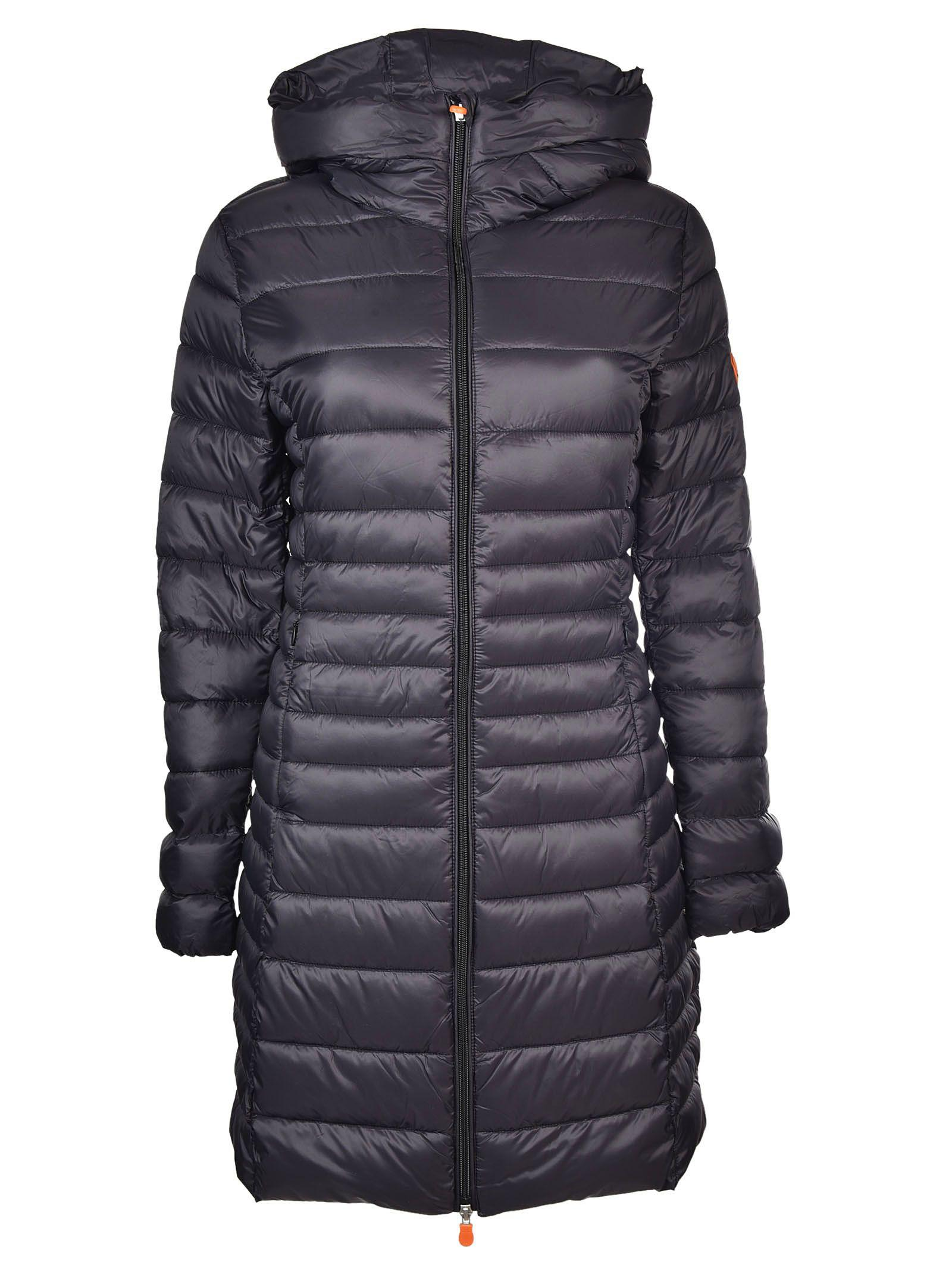 Save The Duck Long Padded Jacket In Navy