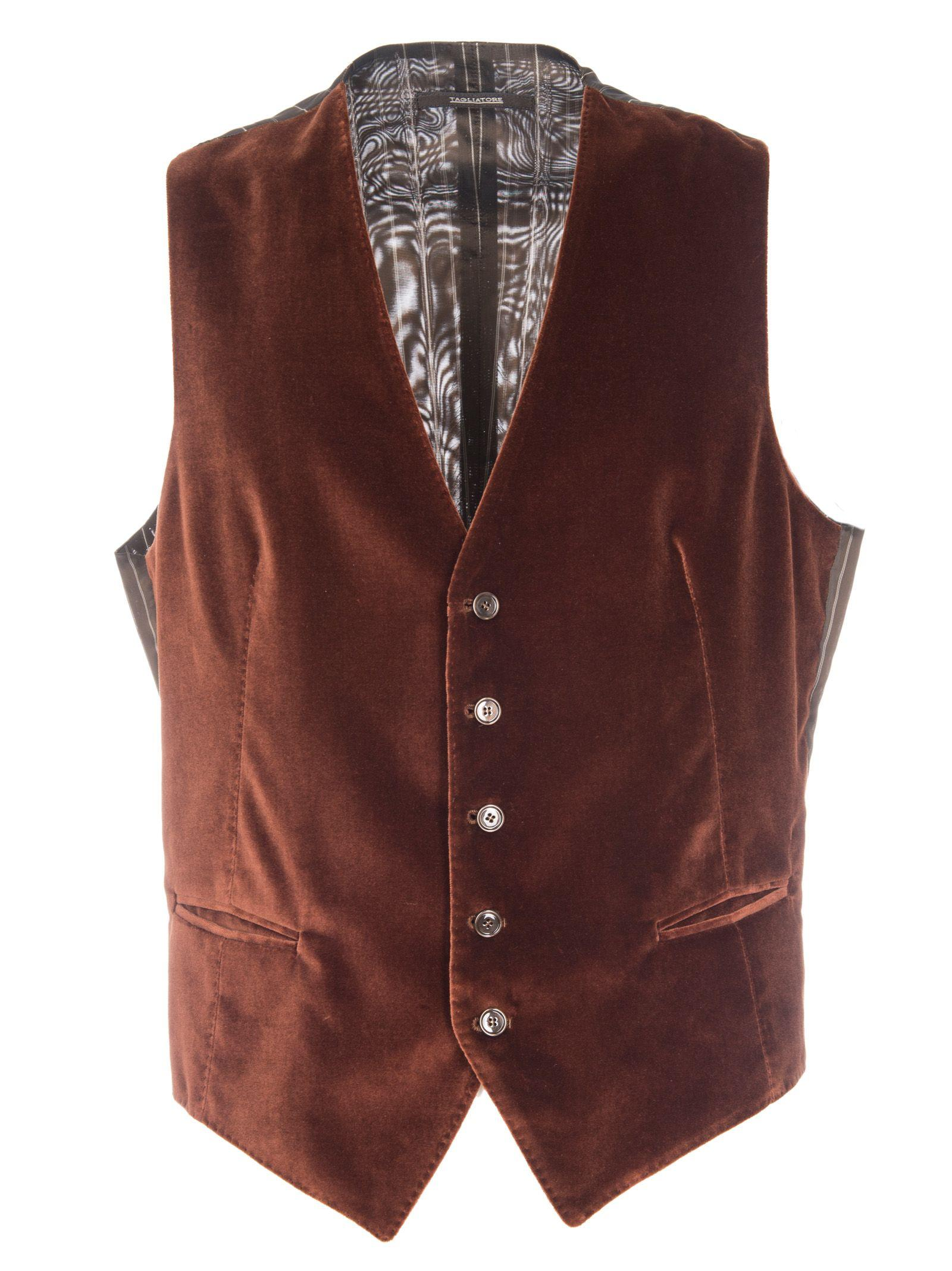 Tagliatore Brian Vest In Brown