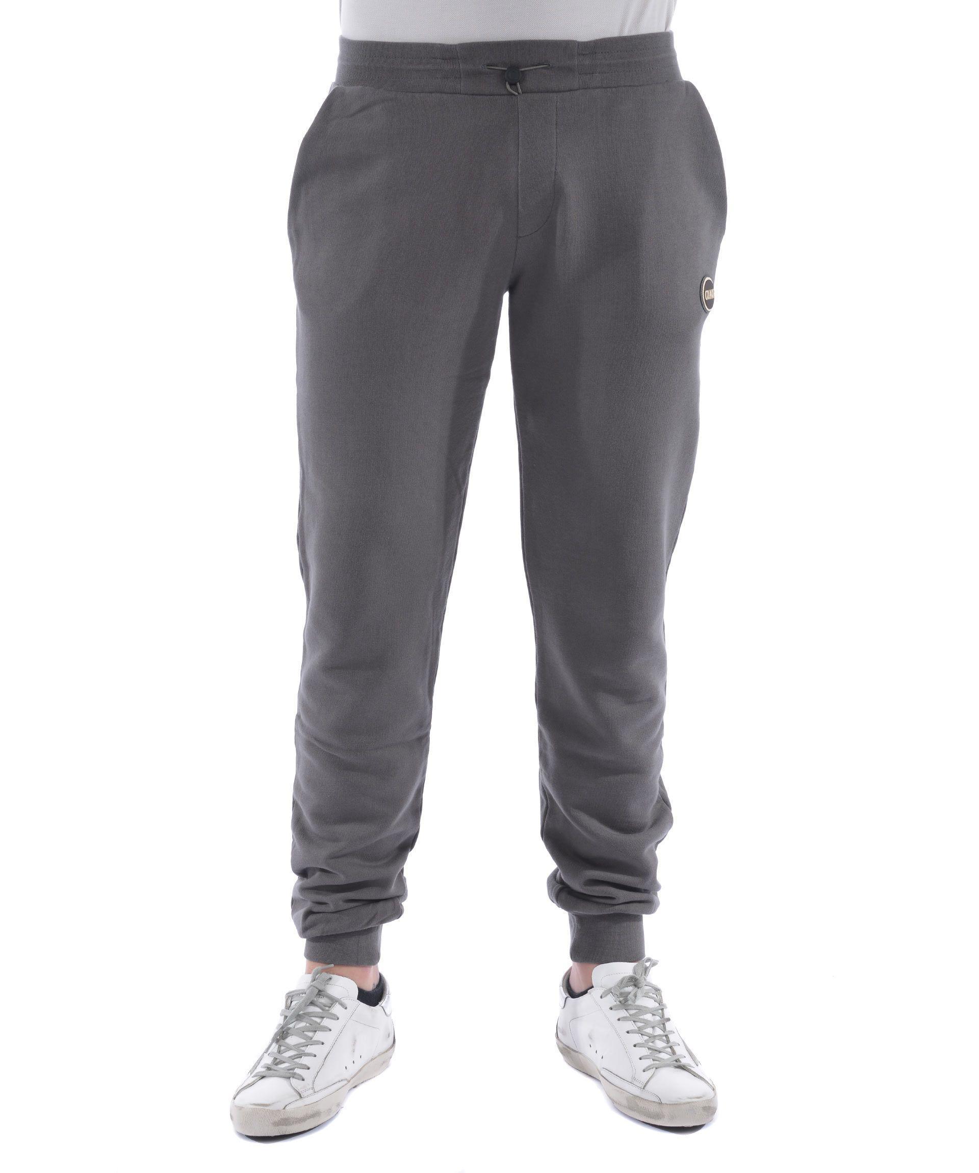 Colmar Logo Patch Track Pants In Grigio Scuro