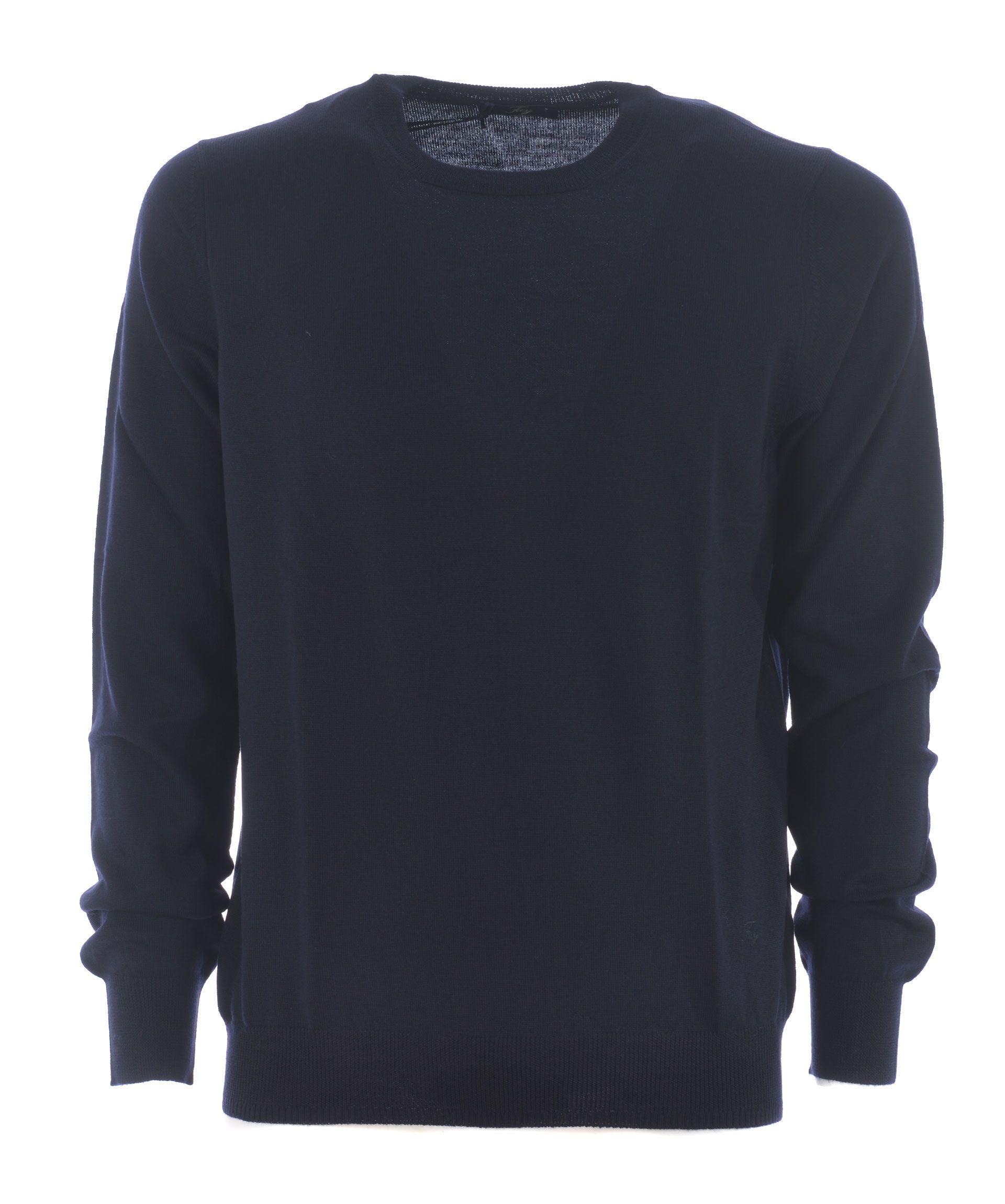 Fay Sweater In Blu Scuro