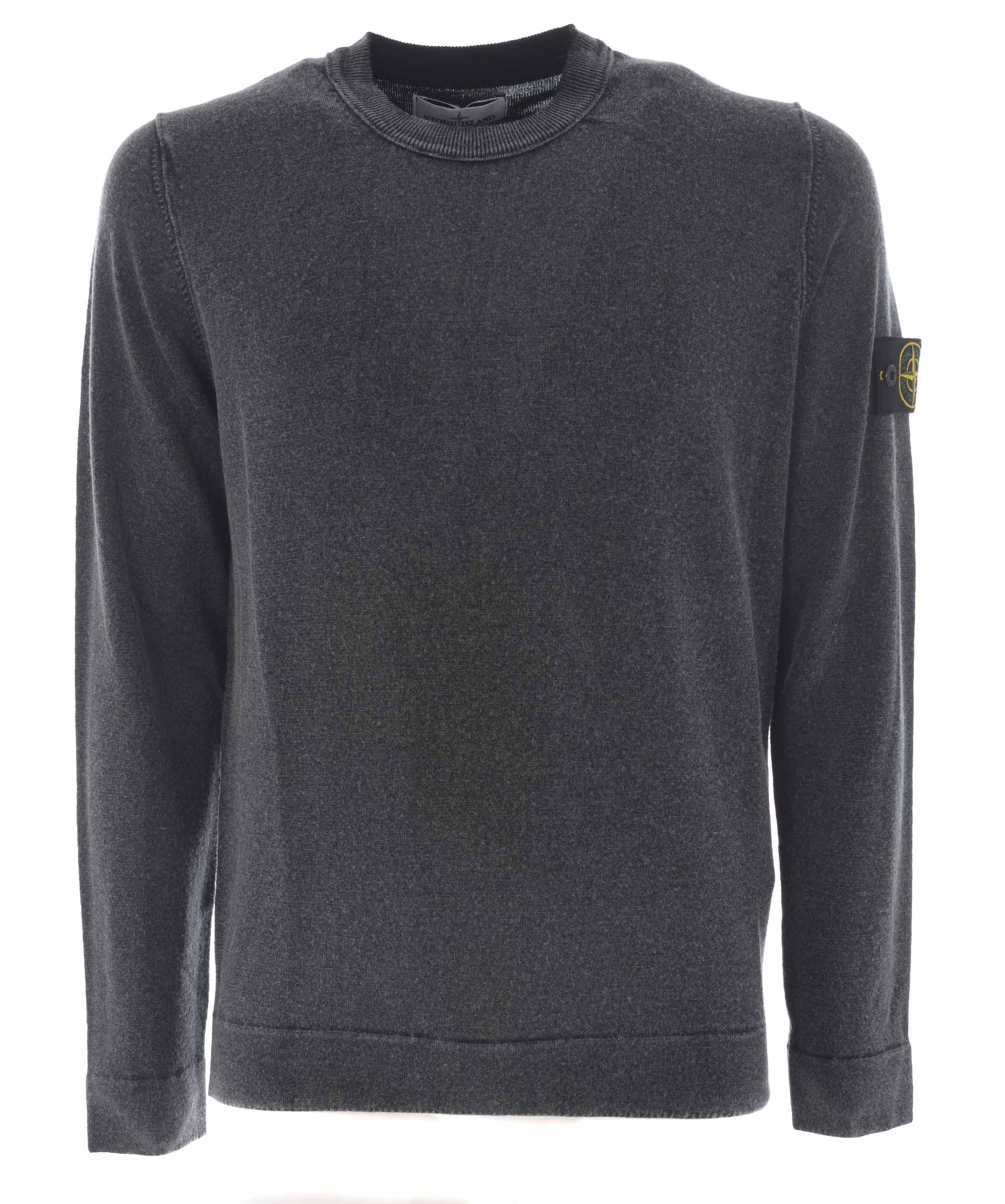 Stone Island Classic Sweater In Grigio Antracite