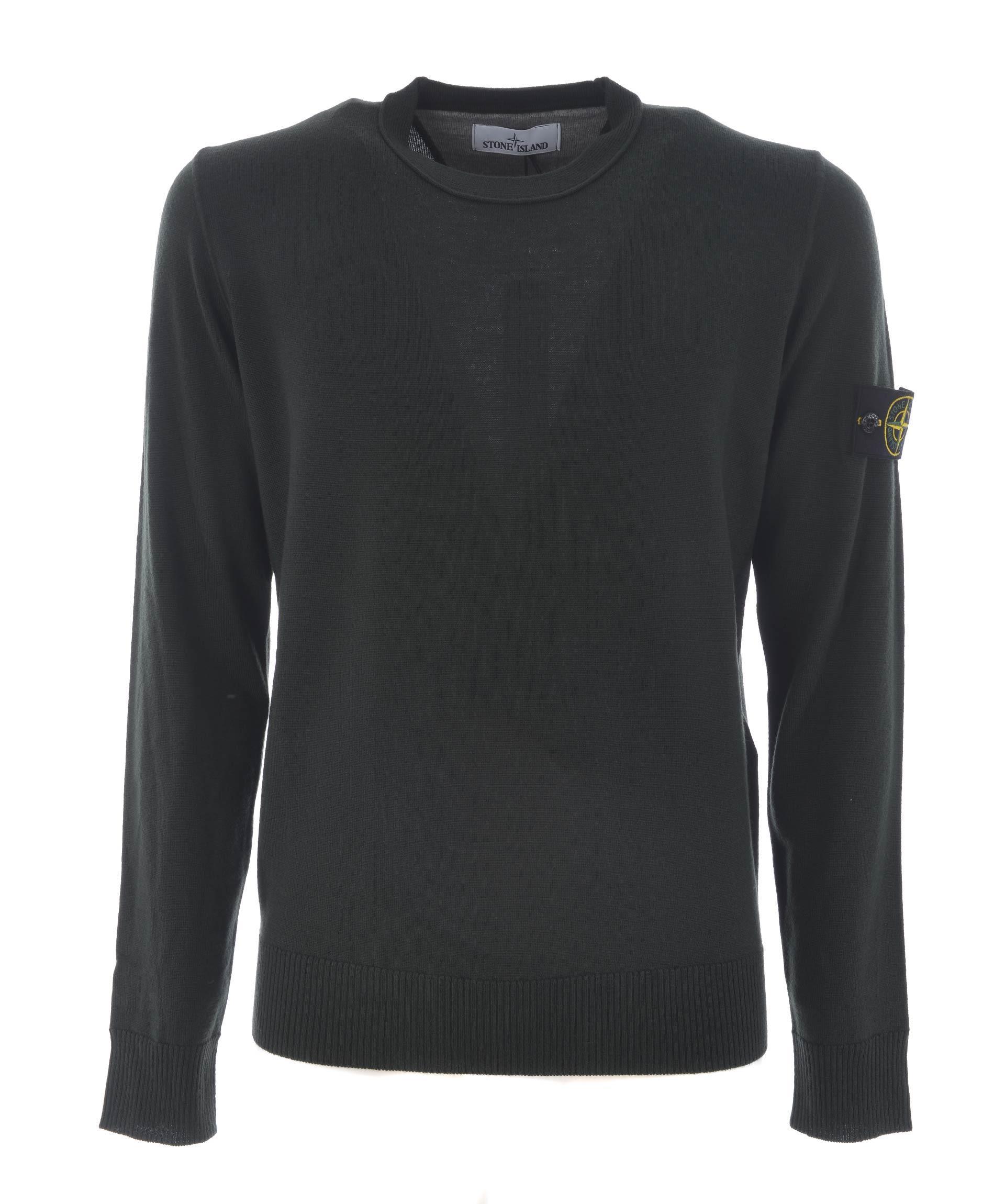Stone Island Patch Detail Jersey Sweatshirt