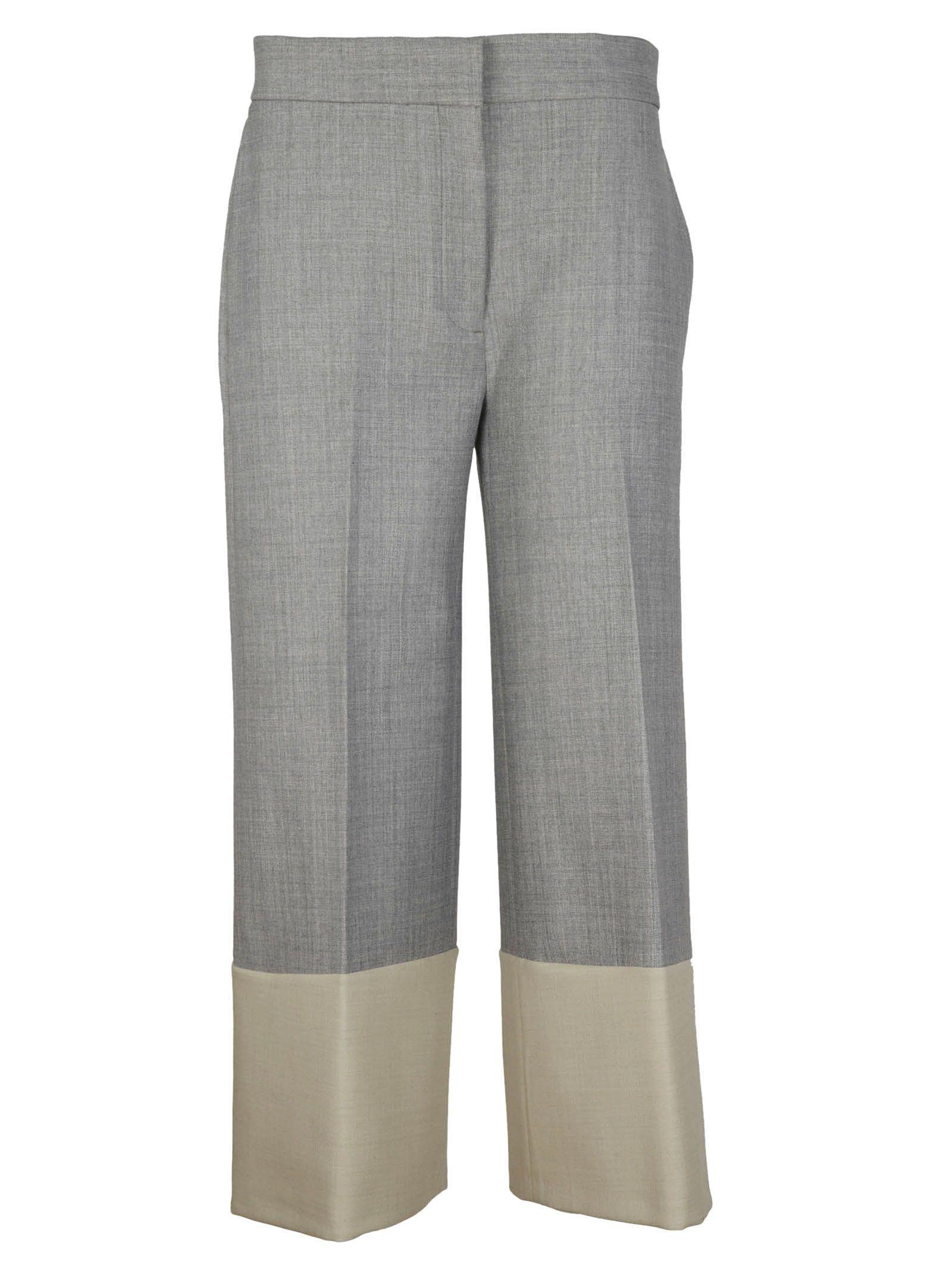 Victoria Beckham Cropped Trousers In Dark Grey