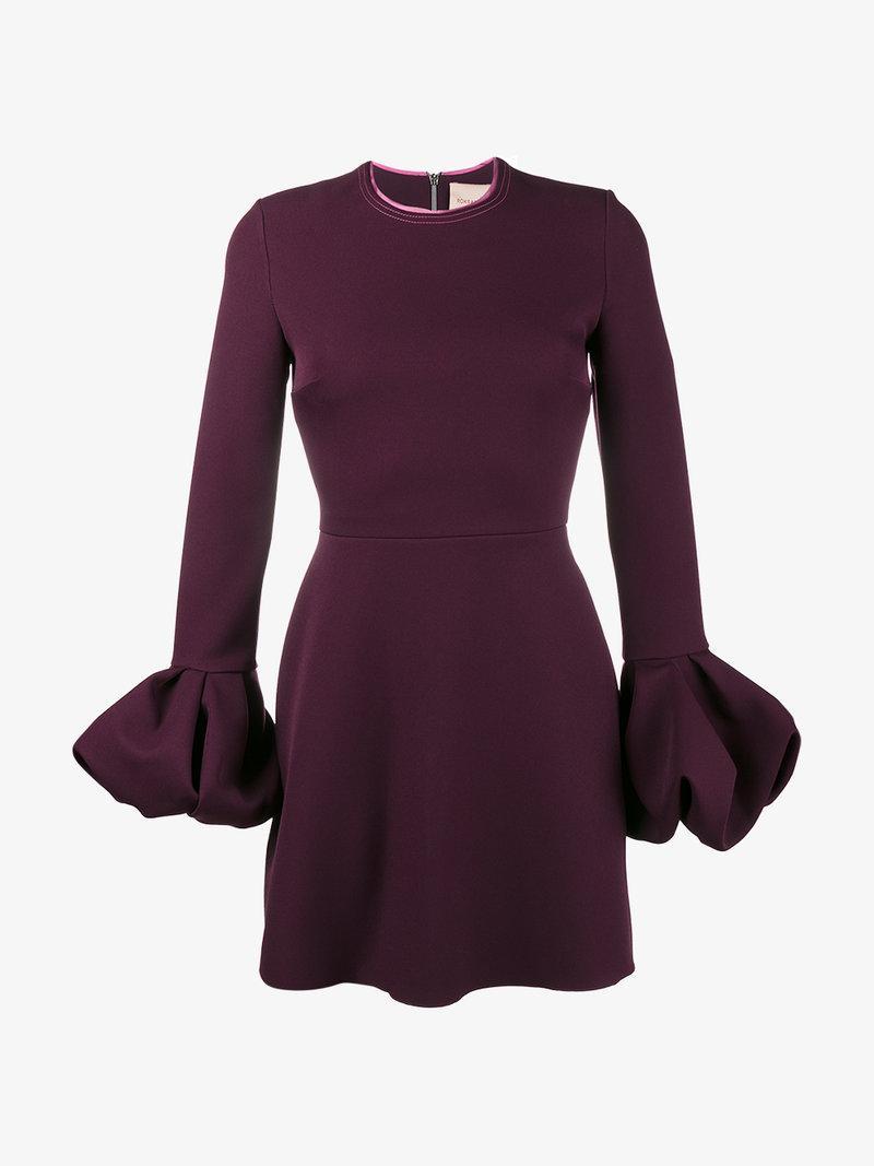 Roksanda Gaia Silk Blend Mini Dress In Red