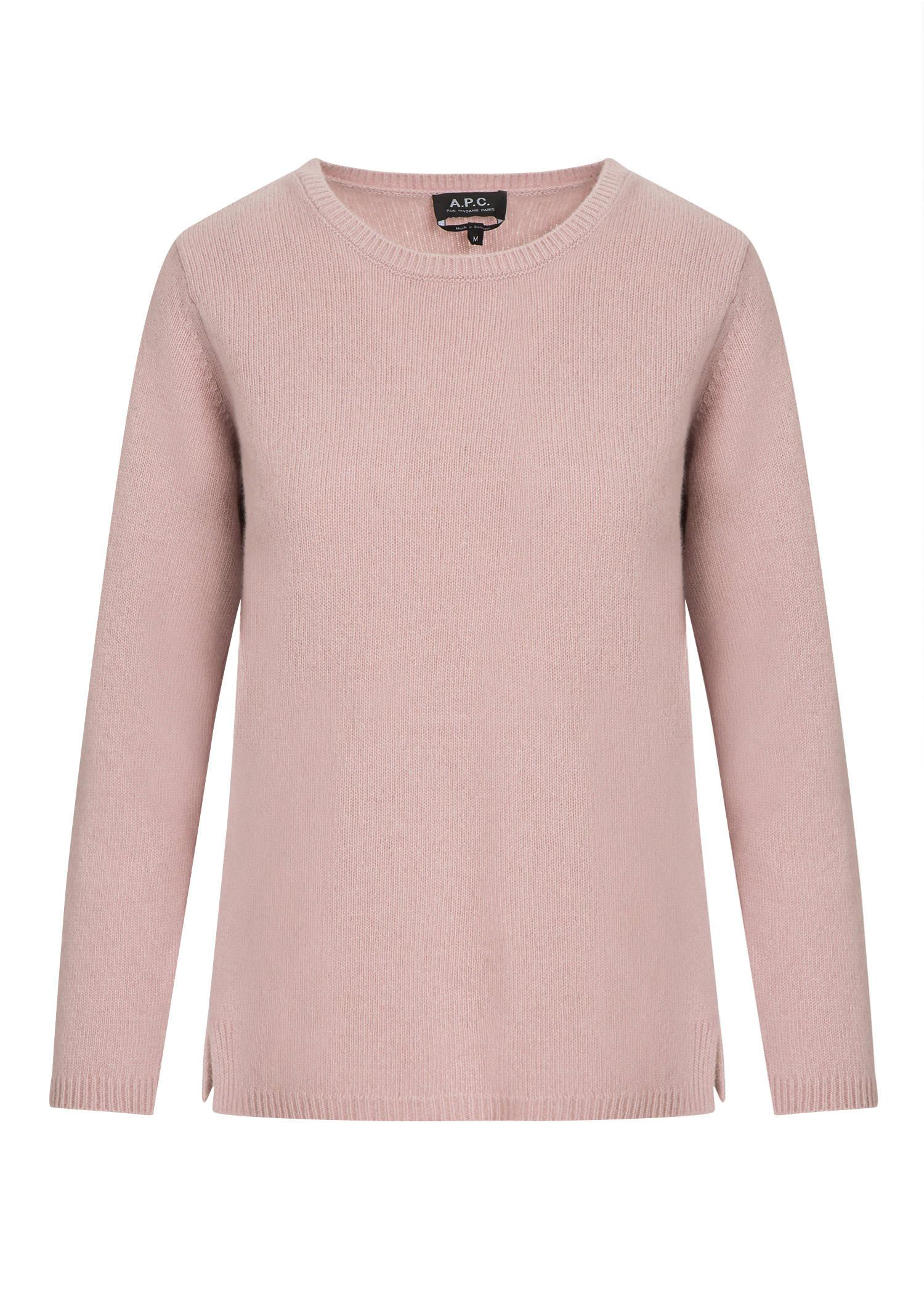 A.p.c. Blaze Sweater In Pale Pink