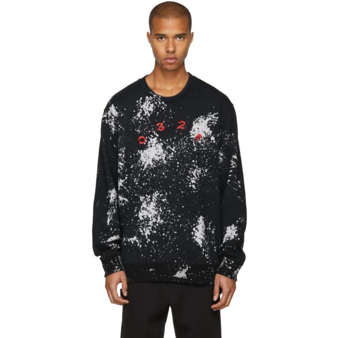 032c Black Peroxide Sweatshirt In Blk/bleach