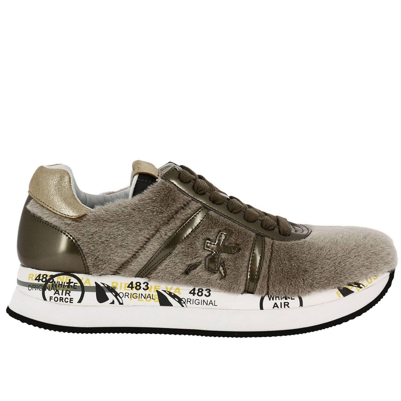 Premiata Sneakers Shoes Women  In Dove Grey