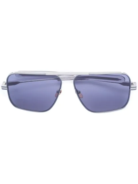 Jacques Marie Mage Oversized Square Frame Sunglasses - Metallic