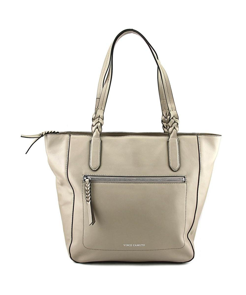 Vince Camuto Wilma Tote    Leather  Tote In Grey