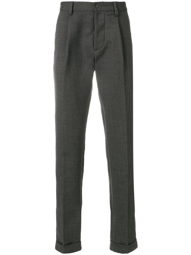 Doppiaa Classic Straight-leg Trousers