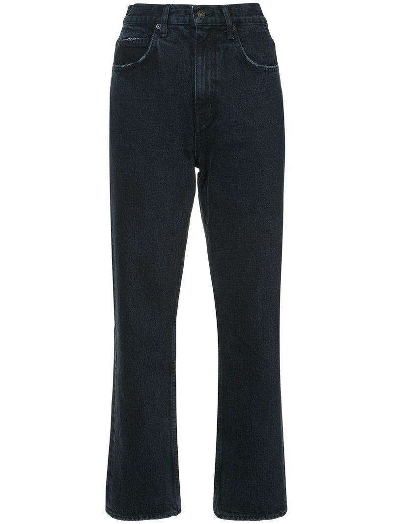 Proenza Schouler Pswl Cropped Flare Jeans In Grey