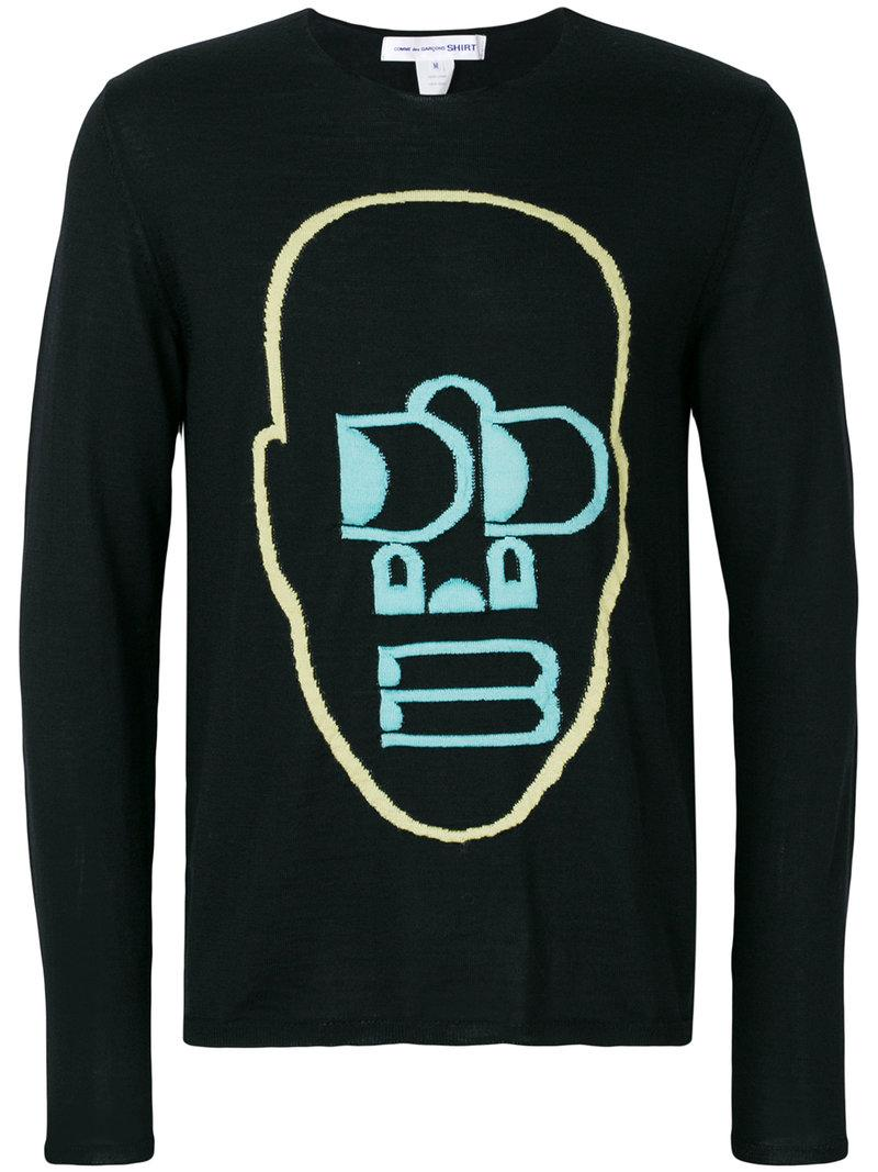 Comme Des GarÇons Shirt Embroidered Sweatshirt
