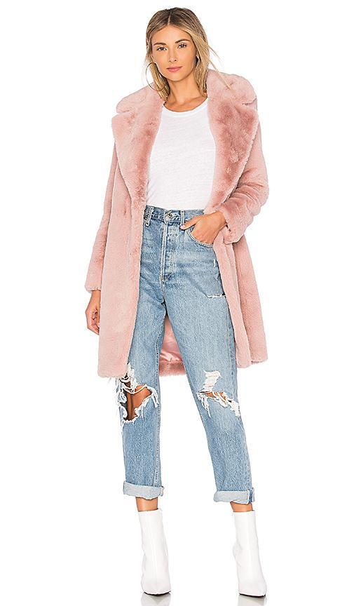 Lovers & Friends Lovers + Friends Romy Faux Fur Coat In Pink. In Flush