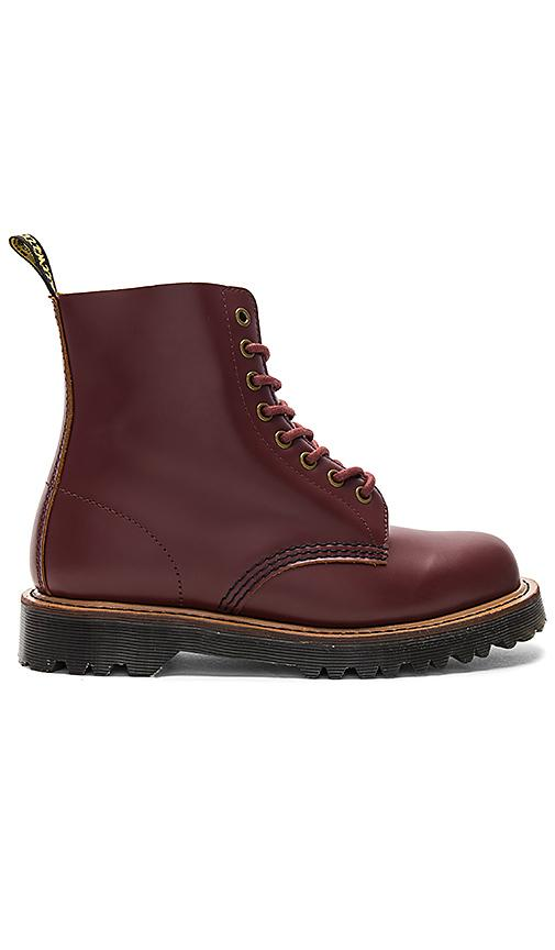 Dr. Martens Pascal Ii 8-eye Boot, Oxblood Vintage Smooth In Burgundy