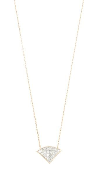 Adina Reyter 14k Gold Pave Folded Fan Necklace