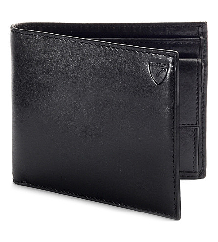 Aspinal Of London Leather Billfold Coin Wallet In Black