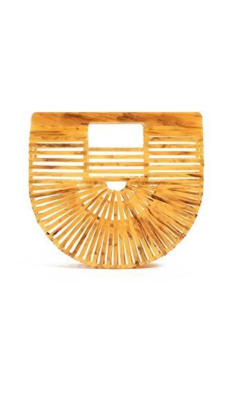 Cult Gaia Acrylic Ark Mini Bag In Marigold
