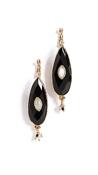 Gas Bijoux Bo Serti Goutte Bis Earrings In Gold