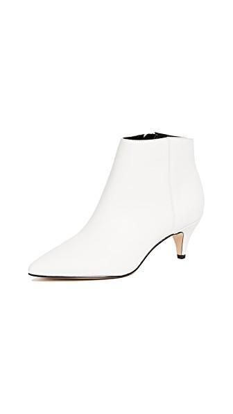 3b3af2700fbdb9 Sam Edelman Women s Kinzey Leather Kitten Heel Booties In Bright White