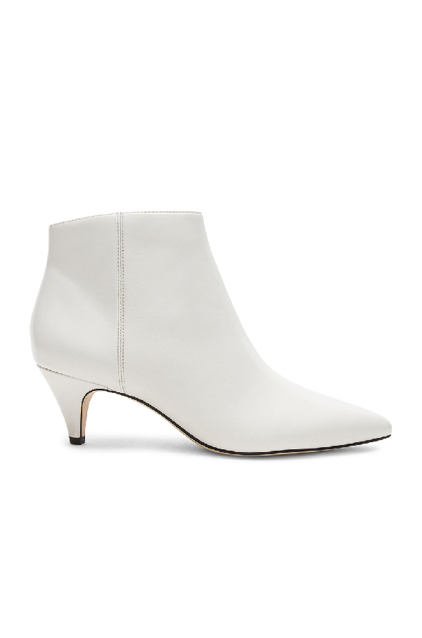 a1fcfa62792 Women's Kinzey Leather Kitten Heel Booties in Bright White