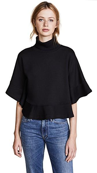 See By ChloÉ Poncho Sweatshirt In Black