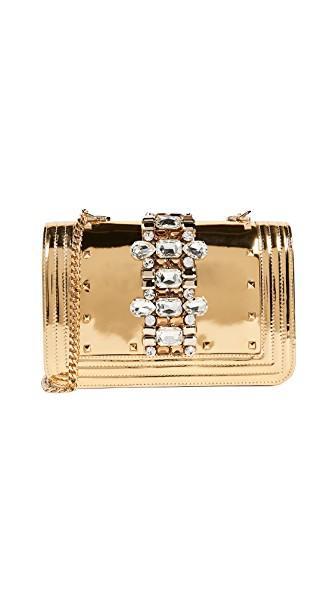Gedebe Mirror Bibi Shoulder Bag In Gold