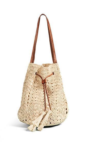 Mar Y Sol Sanibel Bucket Bag In Natural