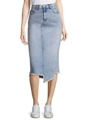 71b8cbc4f043 Rag   Bone Rag And Bone Blue Denim Sakato Skirt In Double Down ...