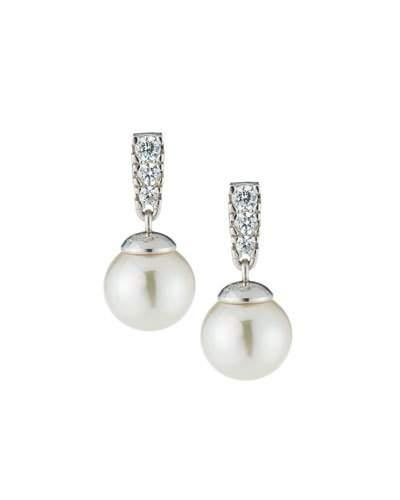 Majorica You & I Manmade Pearl Drop Earrings In White