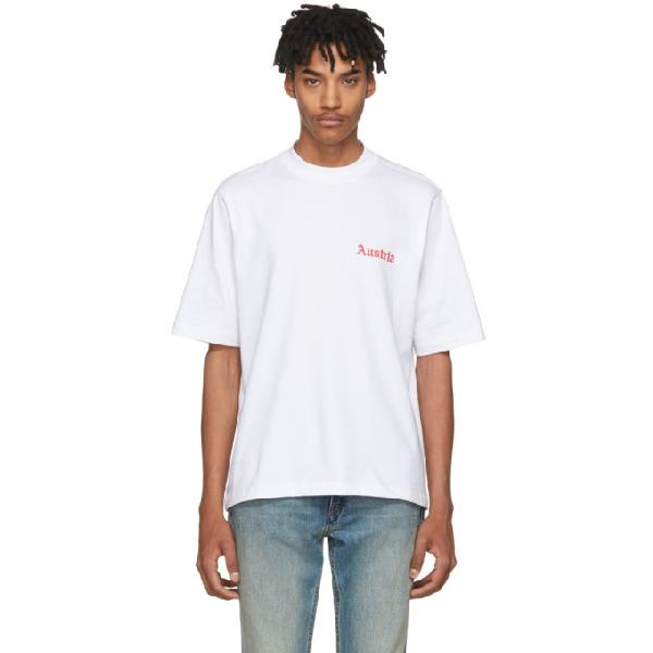 Helmut Lang Austria-print Cotton-jersey T-shirt In White