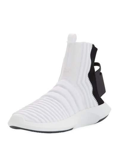huge selection of 6f565 55fbf Adidas Originals Cq0985 Crazy 1 Sock Adv Primeknit Sneakers In White