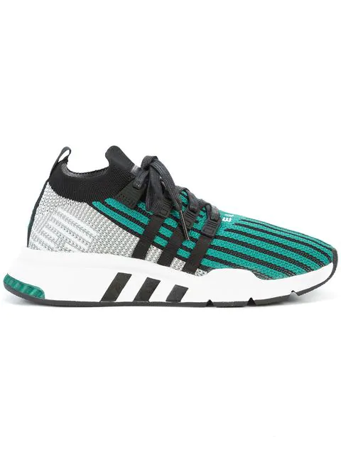 brand new f31b2 74ee8 Eqt Support Mid Adv Primeknit Sneakers In Green - Green in Black