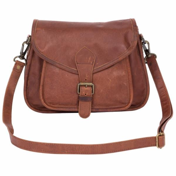 Classic Saddle Bag In Vintage Brown Leather