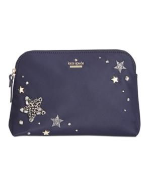 d55a39d649 Kate Spade New York Watson Lane Embellished Small Briley Cosmetic Bag In  Rich Navy. macy s