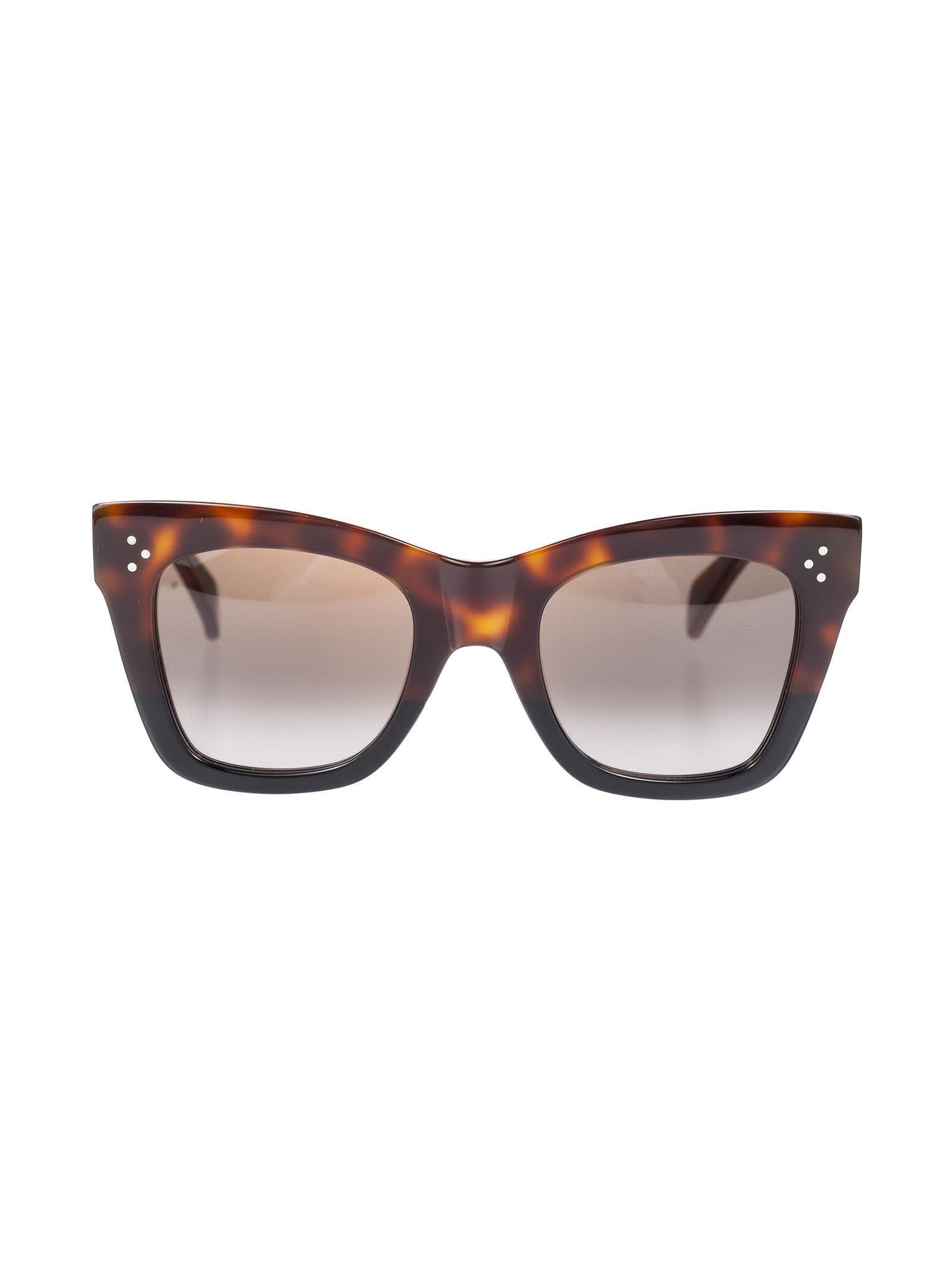 1f31676c424 Celine Catherine Sunglasses In Havana-Black