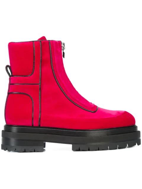 Pierre Hardy Stitch Detailed Platform Sole Ankle Boots In Pkblk