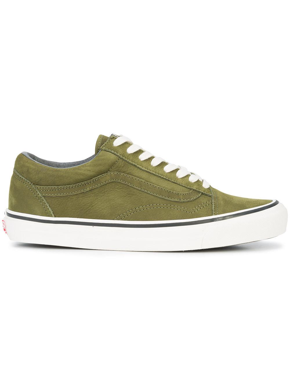 37b79520c6 Vans Og Old Skool Lx Nubuck Sneakers In Army Green